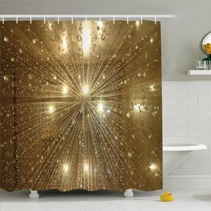Shower Curtain Water Droplets Print